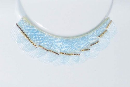 Eyelash Eye Lash set Golden strap on Blue Pastel